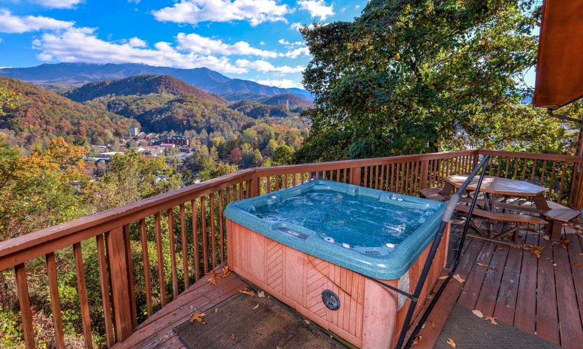 Gatlinburg cabin rentals absolute heaven for Gatlinburg cabins with hot tub