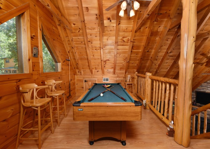 Pigeon Forge Cabin- Hooked On Love – Rec Room