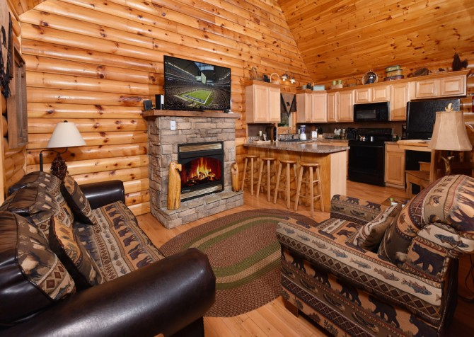 Gatlinburg Cabin - Think A Little Less - Living Room