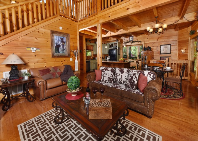 Pigeon Forge - Cedar Forest - Living Room