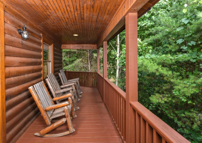 Gatlinburg Cabin - Think A Little Less - Deck