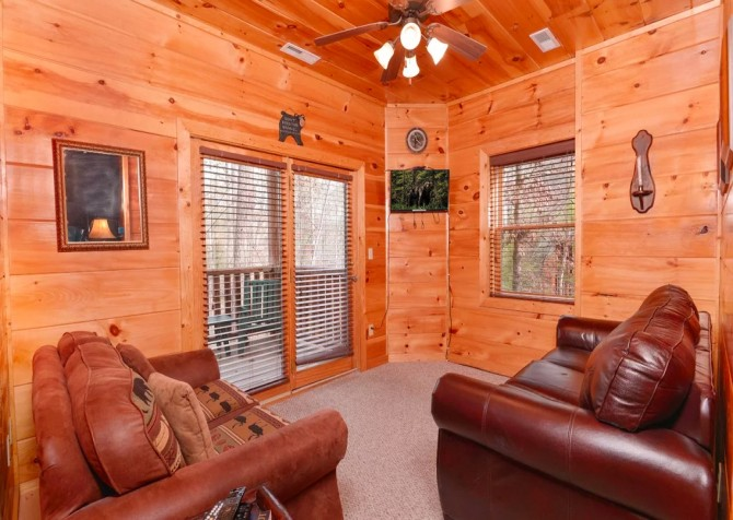 Pigeon Forge Cabin -Awesome Getaway and a Theater – Media Area