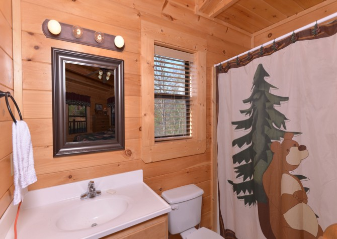 pigeon forge cabin – dancing with the stars – Bathroom