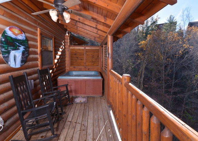 pigeon forge cabin – dancing with the stars – Exterior