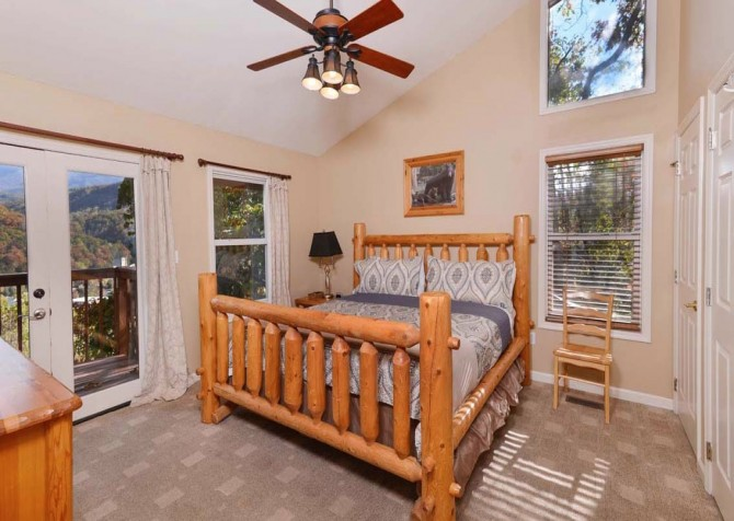 Gatlinburg Cabin- Absolute Heaven - Bedroom 1