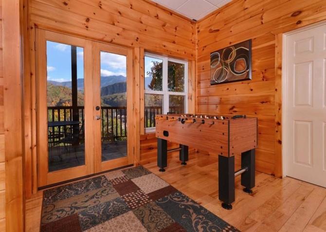 Gatlinburg Cabin- Absolute Heaven - Foosball Table View