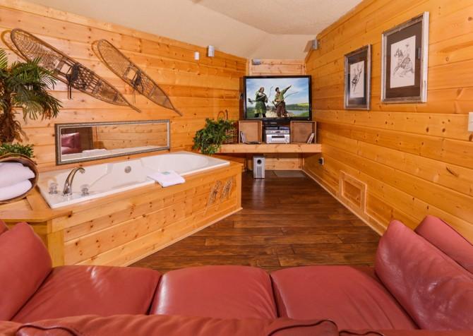 Gatlinburg Cabin- Apparent Seclusion– Sitting Area