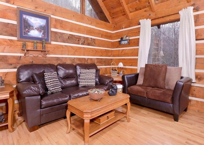 Gatlinburg Cabin -Auntie Sue's Cabin –  Living Room