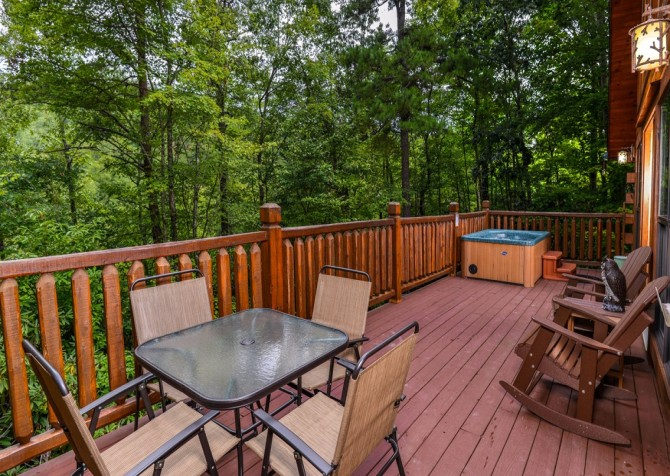 Pigeon Forge Cabin- Alone At Last – Deck With Outdoor Hot Tub
