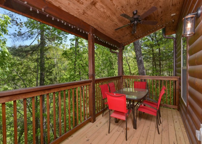 Pigeon Forge Cabin- Along The Right Path – Deck Sitting Area