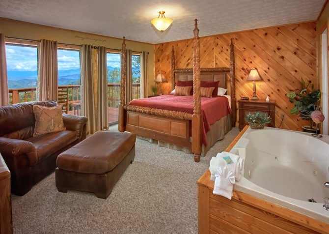 Pigeon Forge Cabin- An Unforgettable Cabin – Bedroom 1