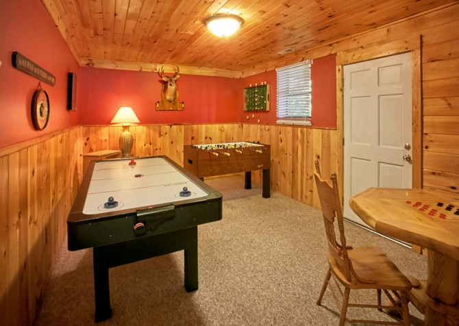 Pigeon Forge Cabin- An Unforgettable Cabin – Game Room