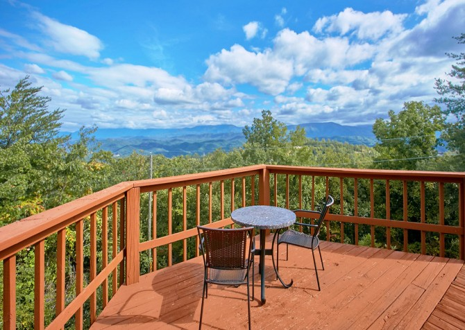 Pigeon Forge Cabin- An Unforgettable Cabin – Deck View