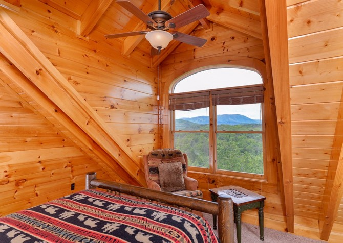 Pigeon Forge Cabin- Awesome Views Mountain Retreat– Bedroom 5