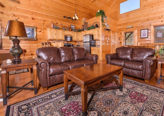 Pigeon Forge Cabin- Awesome Views and a Theater – Living Room