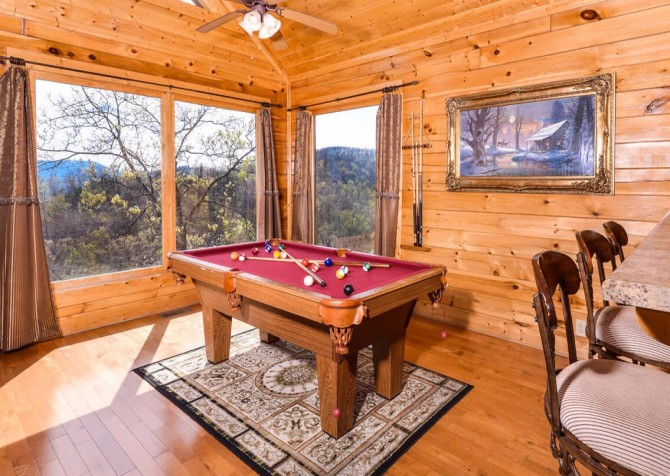 Pigeon Forge Cabin- Awesome Views and a Theater – Pool Table