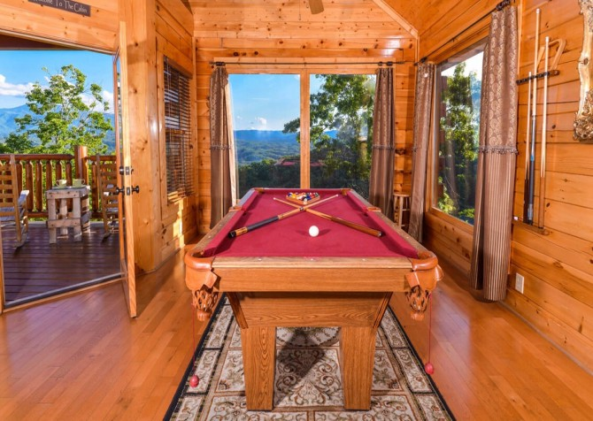 Pigeon Forge Cabin- Awesome Views and a Theater – Pool Table - View