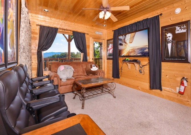 Pigeon Forge Cabin- Awesome Views and a Theater – Theater Room
