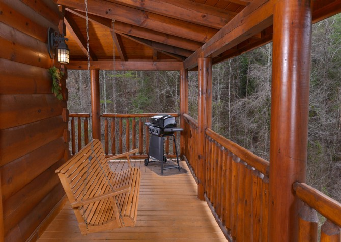 Pigeon Forge Cabin- American Bear Cabin – Deck Grill - Swing