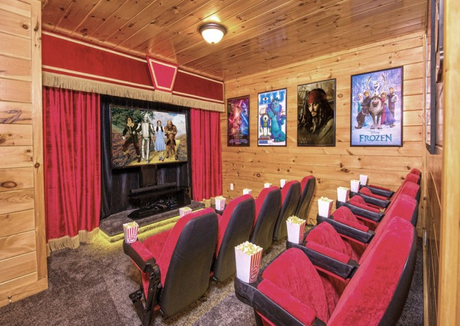 Pigeon Forge Cabin- Be Our Guest – Theater Room