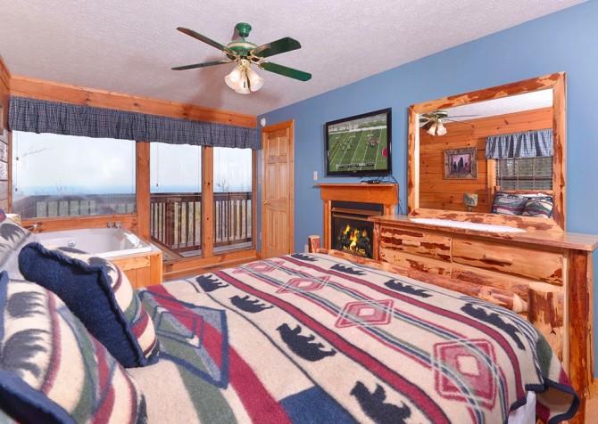 pigeon forge cabin – eagles landing – bedroom