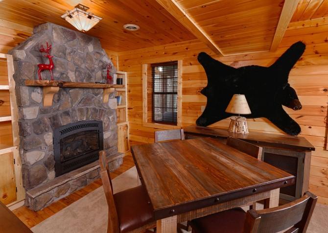 Gatlinburg Cabin - Bearadise - Table Near Fireplace