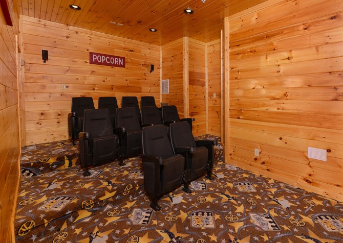 Gatlinburg Cabin - Bearskin Lodge -  Theater