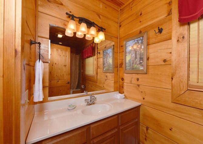 Gatlinburg - A Bear's Eye View - Bathroom