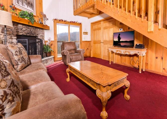 gatlinburg cabin - bella vista - living