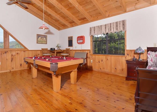 gatlinburg cabin - bella vista - pool table