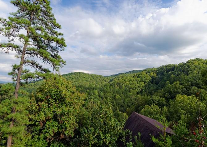 gatlinburg cabin - bella vista - view