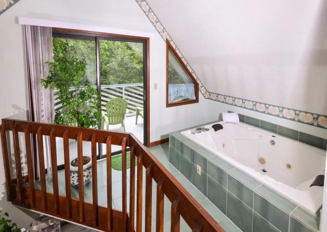 gatlinburg cabin - bonnie and clyde - bathroom