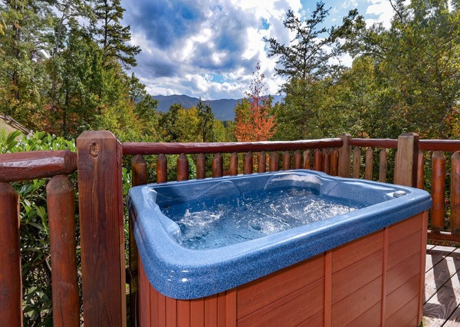 pigeon forge cabin – cozy cabin – hot tub