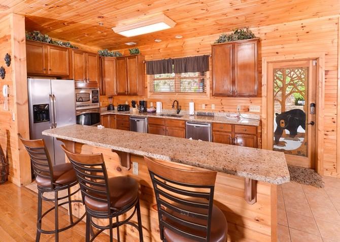 gatlinburg cabin - gatlinburg amazing grace - kitchen