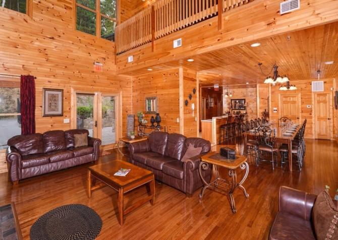 gatlinburg cabin - gatlinburg amazing grace - living
