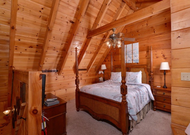 gatlinburg cabin - gatlinburg secret splash - bedroom