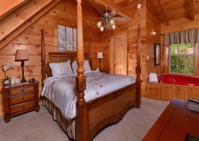 gatlinburg cabin - gatlinburg secret splash - bedroom