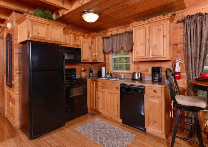 gatlinburg cabin - gatlinburg secret splash - kitchen