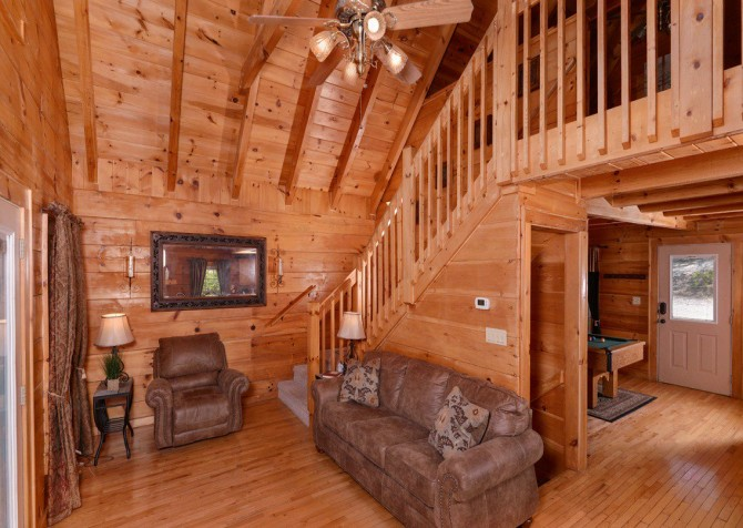 gatlinburg cabin - gatlinburg secret splash - living