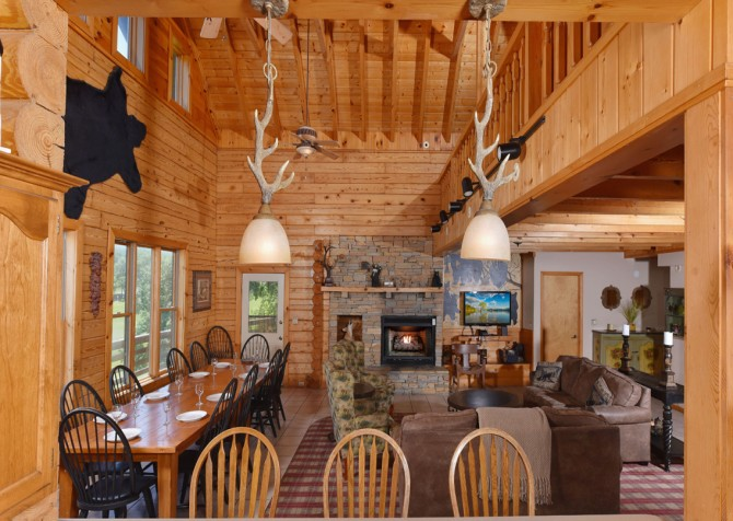 Gatlinburg Cabins - Pop-A-Bear - Living Room