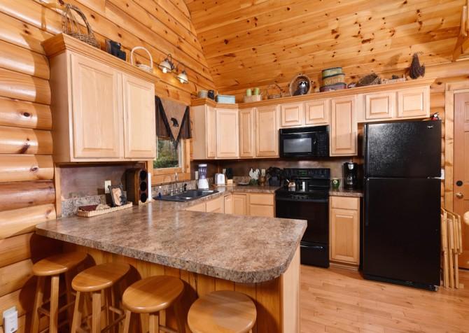 Gatlinburg Cabin - Think A Little Less - Kitchen