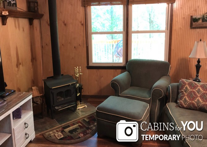 Gatlinburg Cabins - Butterfly Bungalow -  Living Room Temp