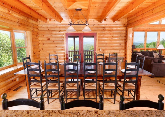 Gatlinburg Cabin - Pinnacle Vista Lodge - Dining