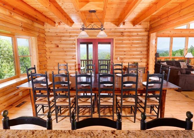 Gatlinburg Cabin - Pinnacle Vista Lodge - Dining
