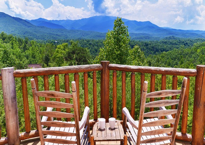 Gatlinburg Cabin - Pinnacle Vista Lodge - Mountain View