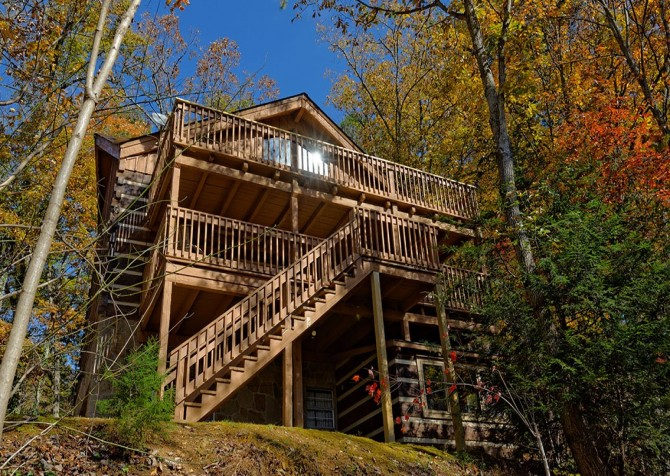 Gatlinburg Cabin- Powdermill Lodge – Exterior