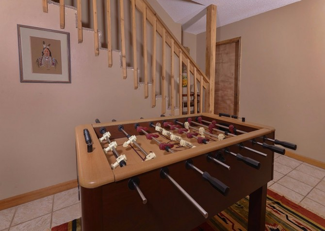 Gatlinburg Cabin- Powdermill Lodge – Foosball Table