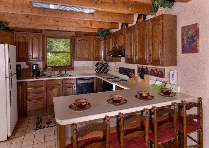 Gatlinburg Cabin- Powdermill Lodge – Kitchen