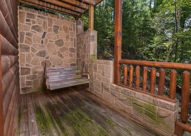 Gatlinburg Smoky Mountain Escape Porch Swing