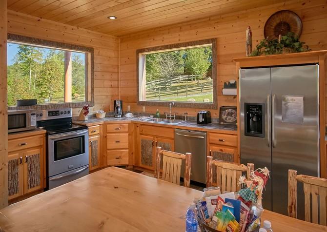 Gatlinburg Splashin Treehouse Kitchen